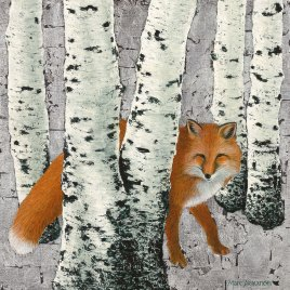 Marc Alexander | Fox Amongst the Birches | The Secret Forest Exhibition