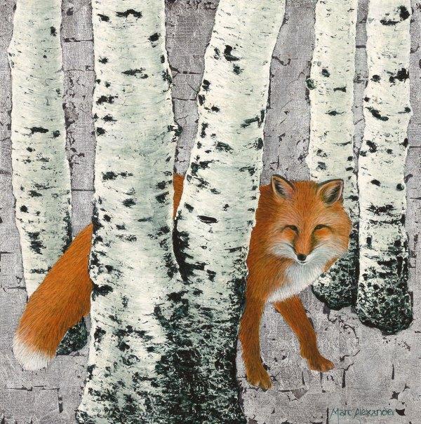 Marc Alexander | Fox Amongst the Birches | The Secret Forest Exhibition