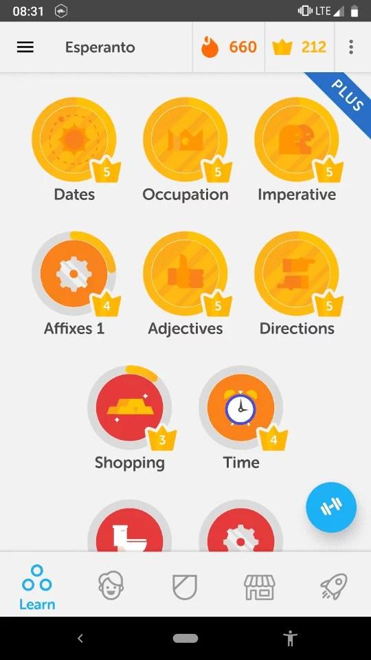 Learning a Language with Duolingo