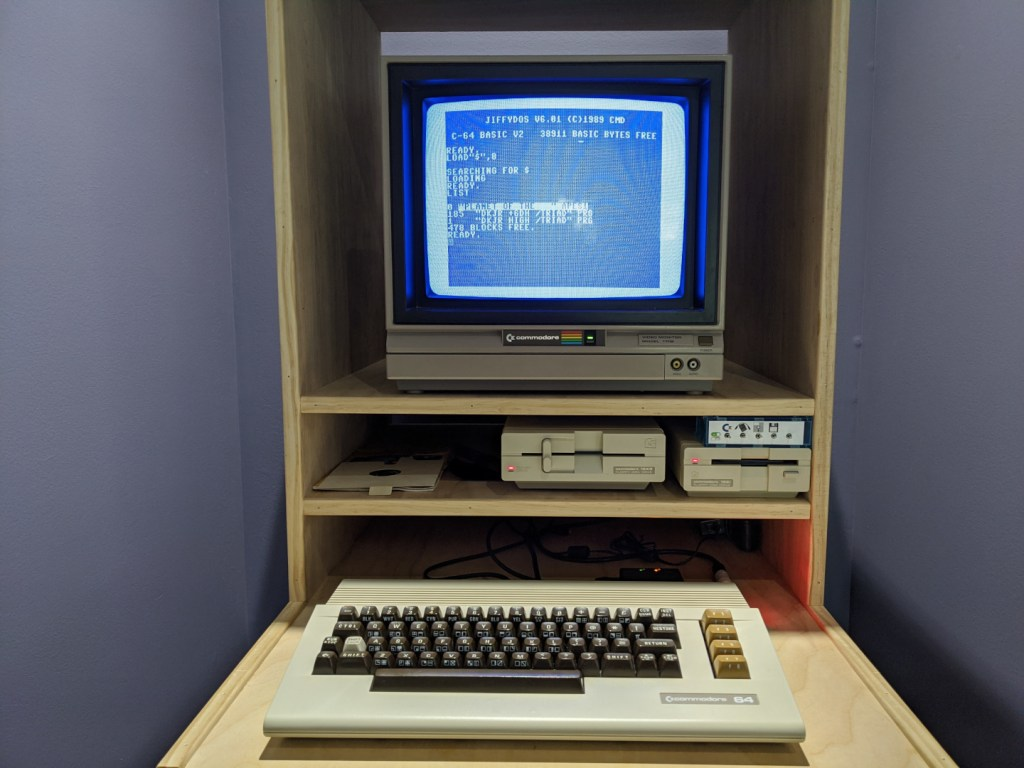 Directory list from a Commodore 1541 floppy drive after copying an image from the ZoomFloppy Pi to it