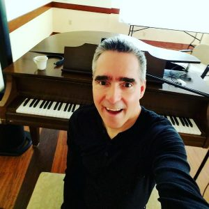 Pianist Los Angeles Marc Bosserman doing what he does best.