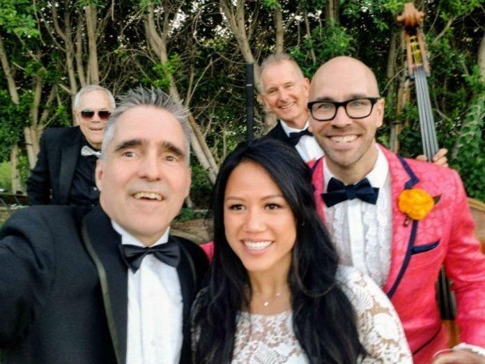 Wedding Ceremony Music Trio Bride and Groom