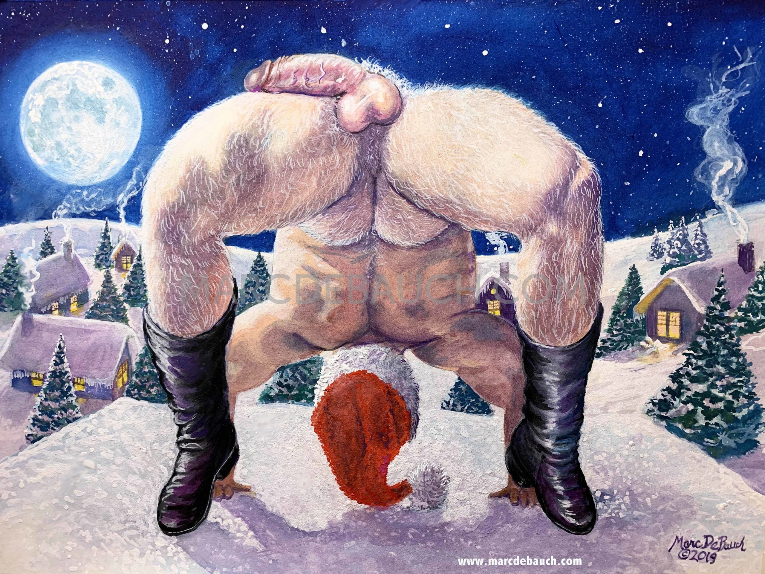 SANTA IS BENDING OVER BACKWARDS TO BRING YOU THE MERRIEST CHRISTMAS