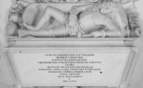 Graftombe Otto Frederick van Vittinghoff detail