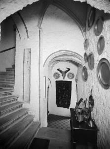 Interieur traptoren in het kasteel
