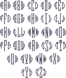 Picture of Seal Monogram Font