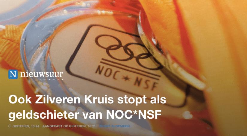 Ook Zilveren Kruis stopt als geldschieter van NOC*NSF