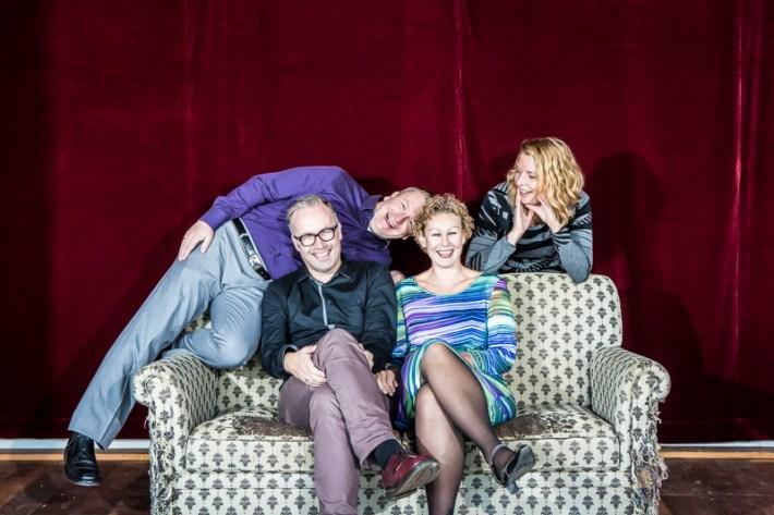Portret in Nijmegen van Dimitri, Edwin, Mariska en Sophie