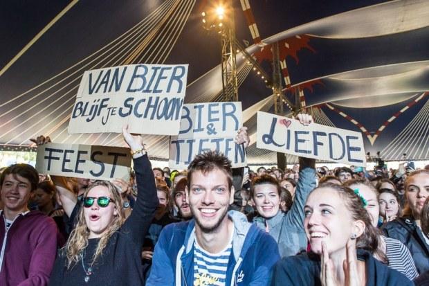 Steun voor Yuri van Gelder vanuit het publiek