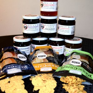 Kitchen Table Bakers' Mini Parm Crisps and Kelly's Jelly Pairings