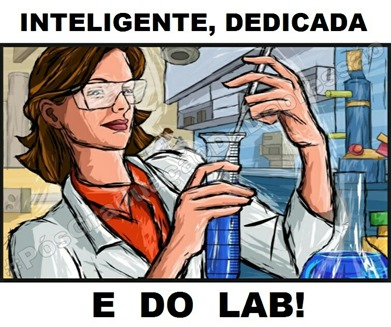 Inteligente, dedicada e do lab