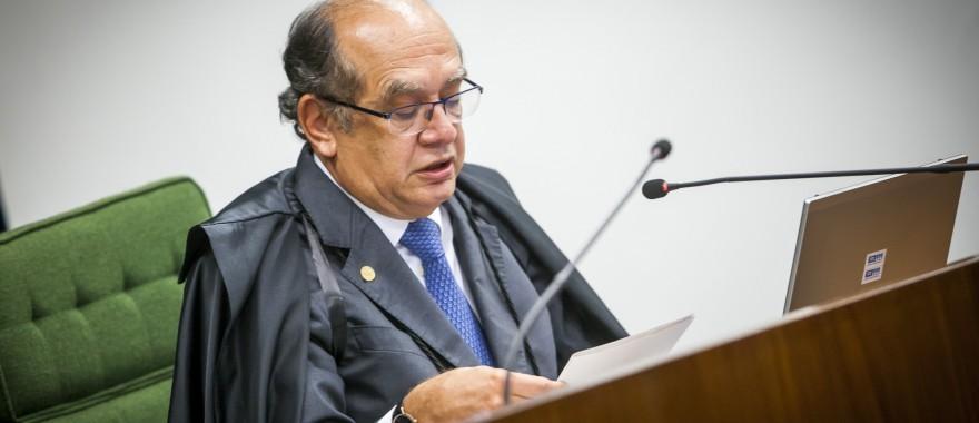 Gilmar Mendes. que assumirá a presidência do TSE, já articula para julgar as contas de Temer separadamente das de Dilma.. Novo golpe?  Foto: Dorivan Marinho/SCO/ST