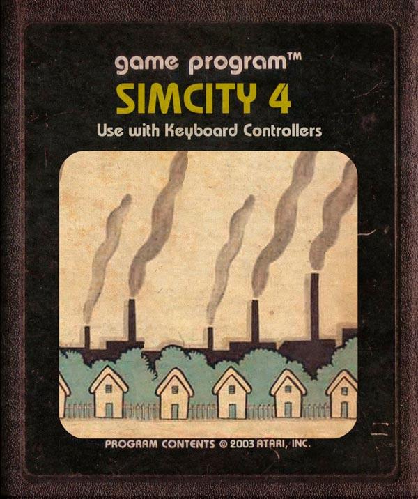Videojuegos modernos como cartuchos de Atari - Sim City