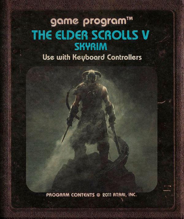 Videojuegos modernos como cartuchos de Atari - Skyrim