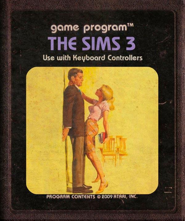 Videojuegos modernos como cartuchos de Atari - The Sims 3
