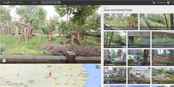 Google Street View in the Zoos