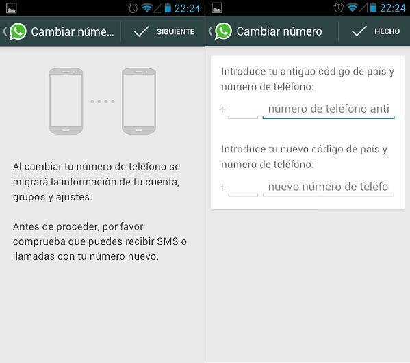 whatsapp como cambiar mi numero 2