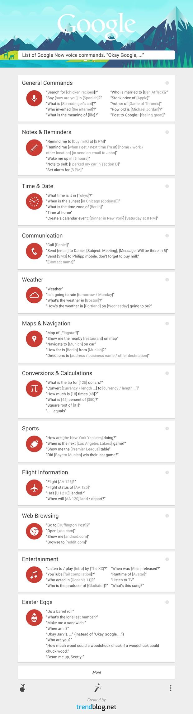 googlenow comandos de voz