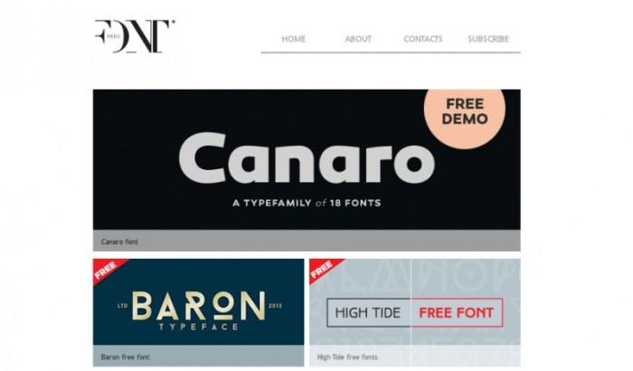 tipografías premium gratis fontfabric