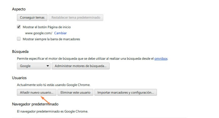 usuarios supervisados en chrome