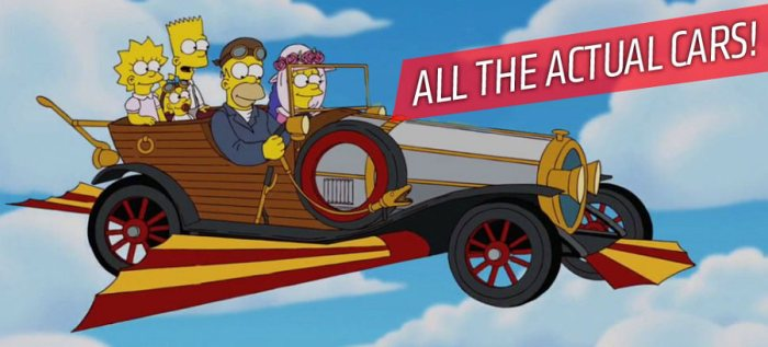 los autos de los simpsons