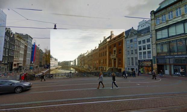 Amsterdam - The Bend in the Herengracht near the Nieuwe Spiegelstraat - 1672 - Berckheyde