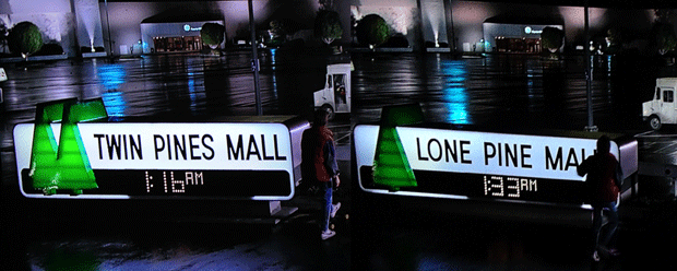 Yup, Marty and us viewers got an early clue that he had changed the future.