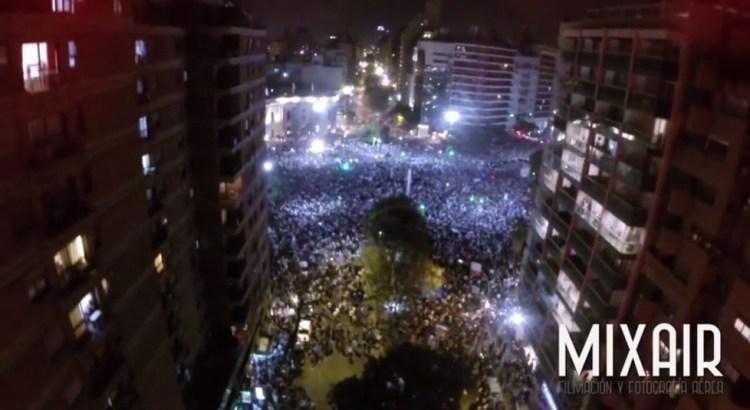 dron festejo argentina holanda