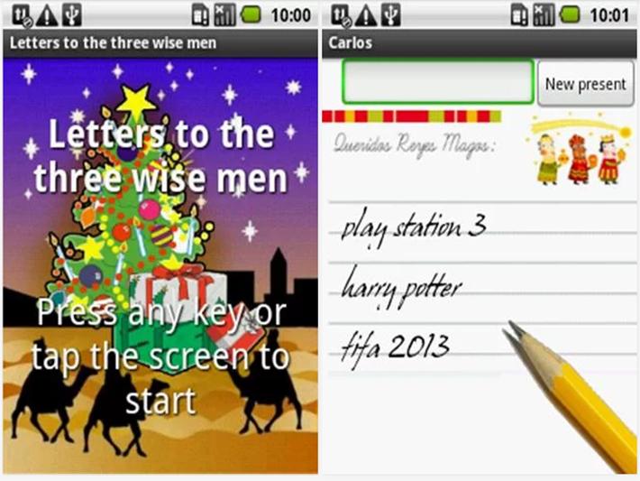 La carta a los reyes magos de Android y IOS