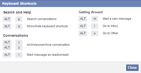 mejores atajos de teclado para facebook