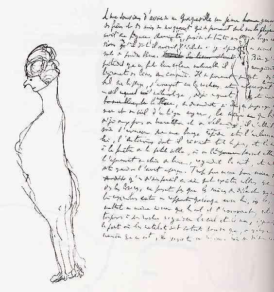 Un disegno di Proust