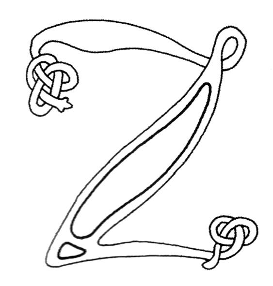 Celtic Knot Alphabet Z