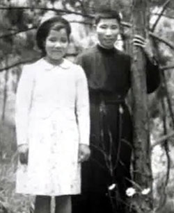 Van with his younger sister Anne Marie Te on the occasion of his final profession at Dalat in September 1952.
