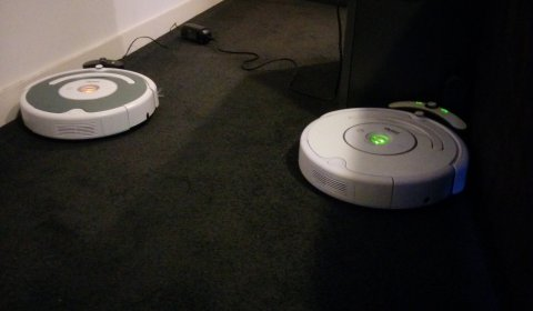 2 Roombas Walk into a Bar