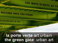 La porte verte : art urbain
