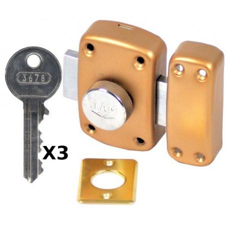 verrou ifam b5 a bouton et cylindre 80 mm