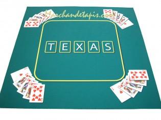 tapis pour jeux de cartes texas vert