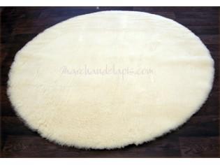 tapis laine rond naturel 140cm
