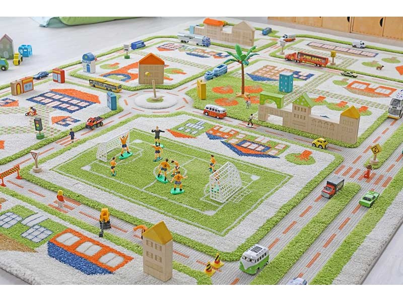 tapis enfant 3d ville vert ivi tapis enfant 3d veritable espace de jeu marchand de tapis
