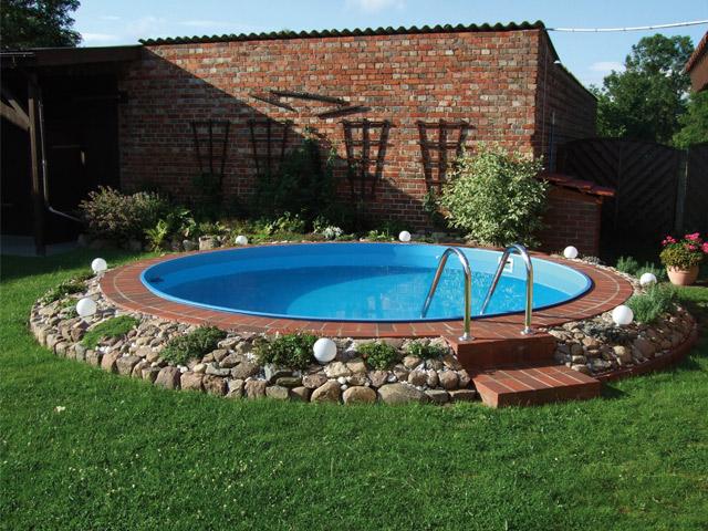 kit piscine enterree acier ronde 4 5 x 1 20m