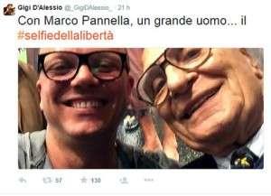 Gigi d'Alessio e Marco Pannella