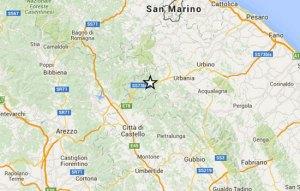 Quattro scosse di terremoto di varia intensità, la più forte di magnituto 3.7 sono state registrate nel distretto sismico di Pesaro Urbino