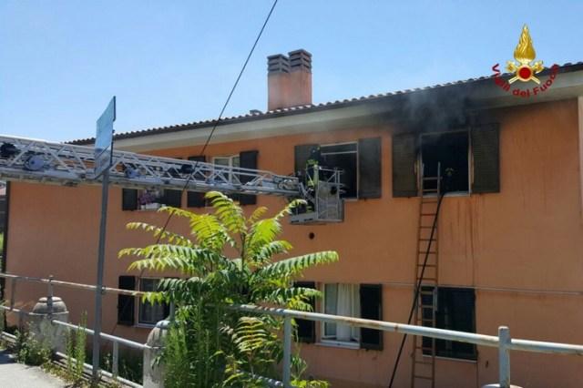 Incendio appartamento ad Ancona