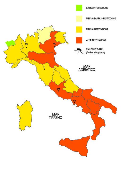 Mappa Zanzare Tigre