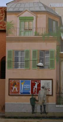 Street Art cinéma dans les ruees de Cannes
