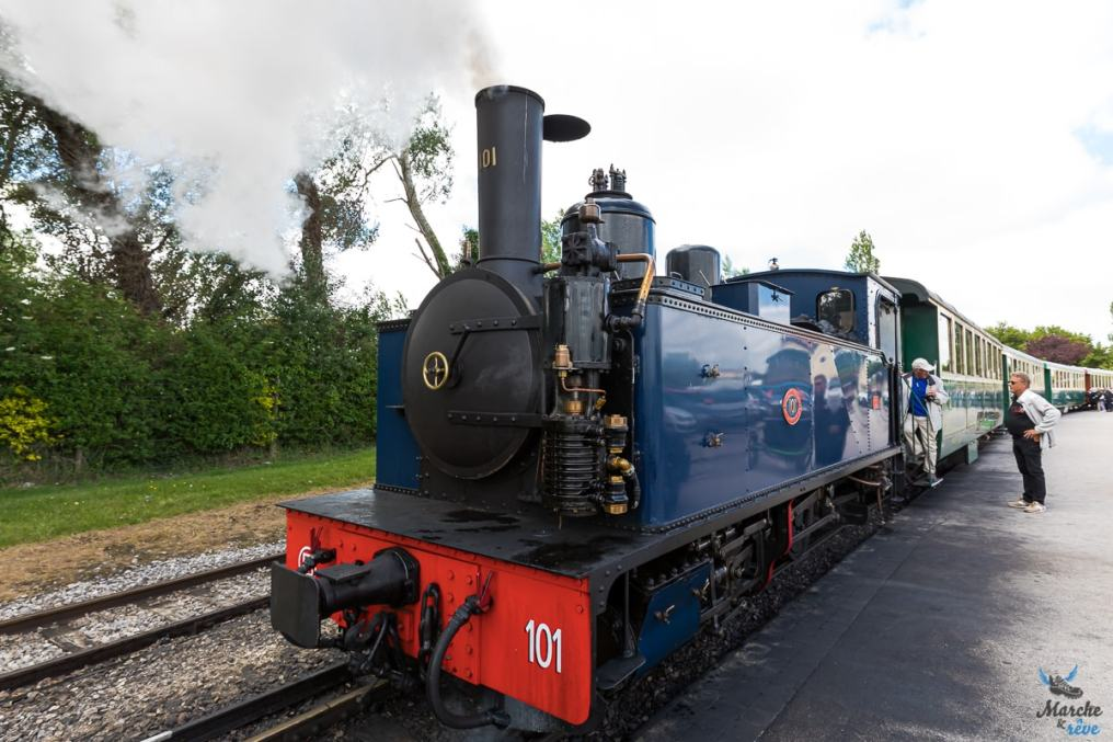 Train du chemin de fer de la baie de Somme