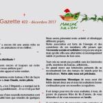 La gazette n°22 décembre 2017