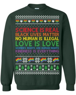 Science Is Real Black Lives Matter Ugly Christmas Sweater