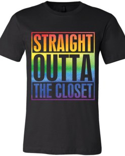 Straight Outta The Closet LGBTQ+ Canvas Unisex T-Shirt