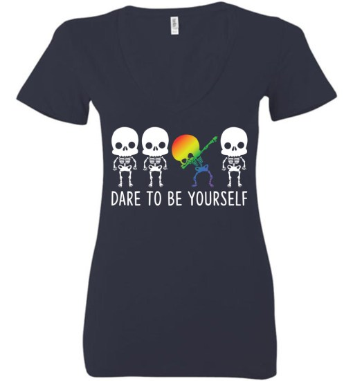 Dare To Be Yourself LGBTQ+ Ladies Deep V-Neck